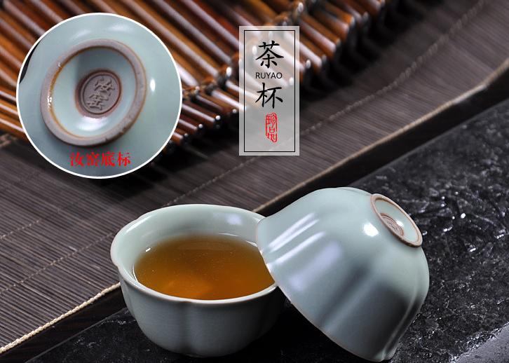 供应大润窑便携旅行茶具套装德化陶瓷功夫茶具汝窑快客杯收纳包一壶四