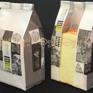 烘焙淋膜开窗透明吐司面包袋子韩式白牛皮纸食品包装袋100个