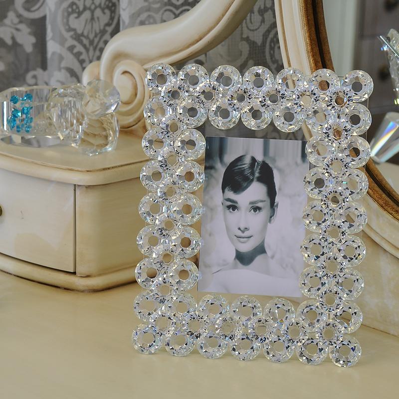 简约设计奢侈艺术品工艺品相框  纯手工制作   闪亮水晶钻工艺品