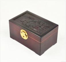 雕花樟木首饰盒 储藏收纳盒 老红樟木箱