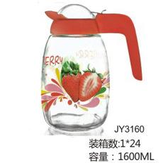 供应 厂家直销 佳颖 JY3160 1600ML 彩色烤花 可定制 扎壶水壶