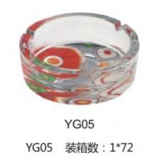供应 厂家直销 佳颖 YG05 彩色烤花 烟灰缸 烟缸可定制