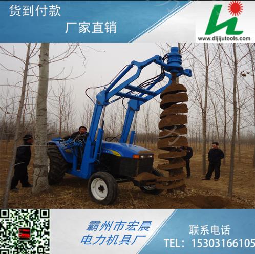 亚源型号齐全兖州牌拖拉机挖坑机604电线杆挖坑机批发
