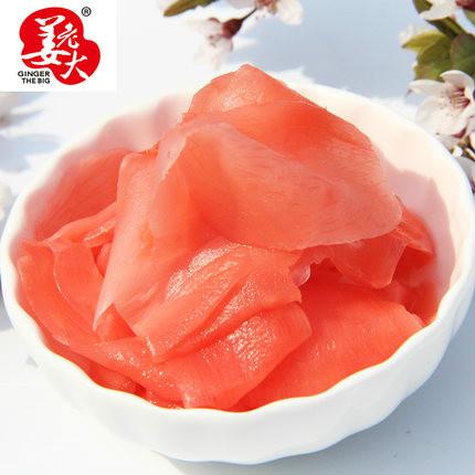 供应姜老大 寿司材料金印甘酢姜片 下饭菜出口日本寿司食材泡菜醋泡姜