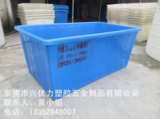 厂家供应:印染厂专用塑料方桶 耐撞击平底纺纱桶 防腐蚀方形染纱桶