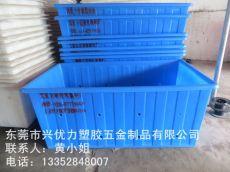 厂家直销:防腐蚀塑料PE方桶 制衣厂用布料周转桶 白色加厚型棉条桶