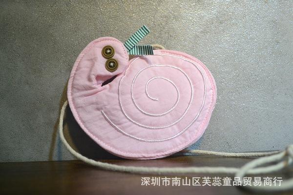 韩版儿童蜗牛包女童小动物斜挎包单肩包小包包粉嫩可爱蜗牛包厂家