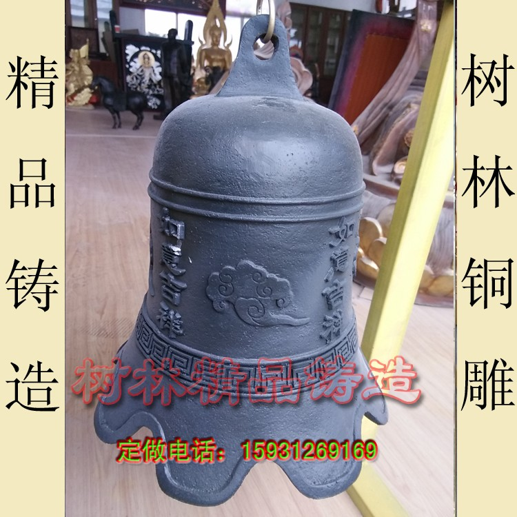 供应  铜雕钟 铜风铃 铸铜钟厂家直销 纯铜钟雕塑_河北树林大型铸铜雕塑公司