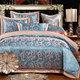 百宏家纺正品全棉贡缎提花 被套纯棉床单 欧式绣花优卡丝四件套