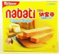 零食饼干印尼丽芝士纳宝帝奶酪夹心威化饼