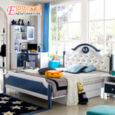 儿童床男孩青少年单人床王子床1.2 1.5米欧式环保套房家具