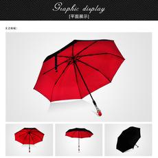 Amrzzi阿玛姿纯色免持反向伞 创意C型手动反向伞女站立式长柄伞订