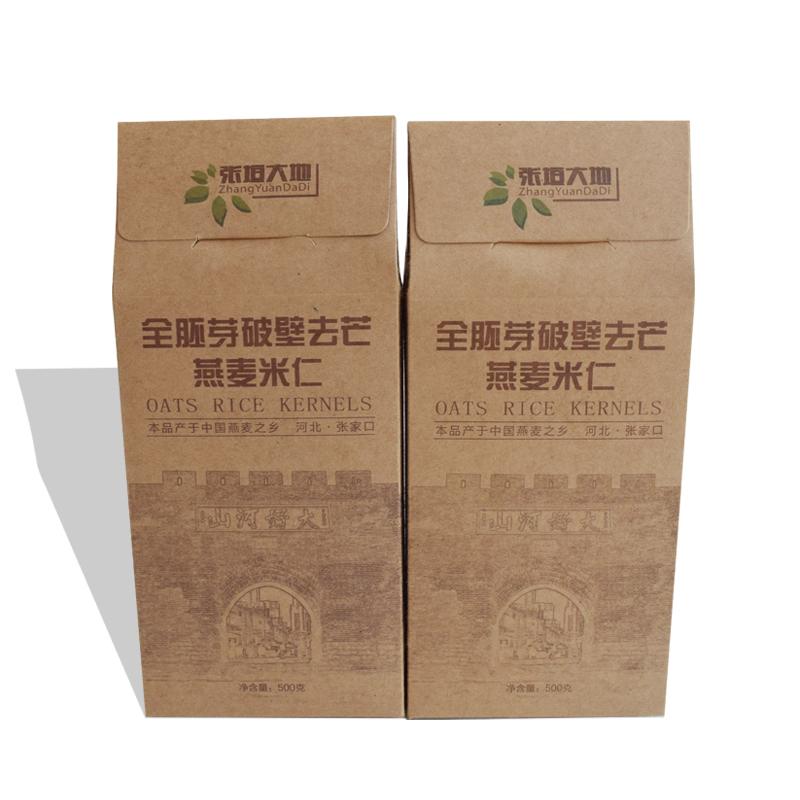 张垣大地全胚芽破壁燕麦仁 精品装 礼盒燕麦米 燕麦仁 全胚芽燕麦米一提4块