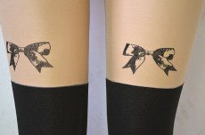 供应个性黑色时尚可爱裤袜 厂家直销