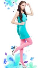 南极人丝袜天鹅绒连裤袜微透糖果色百搭长丝袜女士打底裤 多彩(均码)