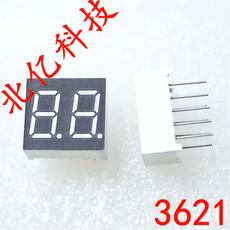 北京0.36寸双位数码管 二位数码管 2位七段管 动态共阴共阳红光 兰光 绿光 3622AH R S