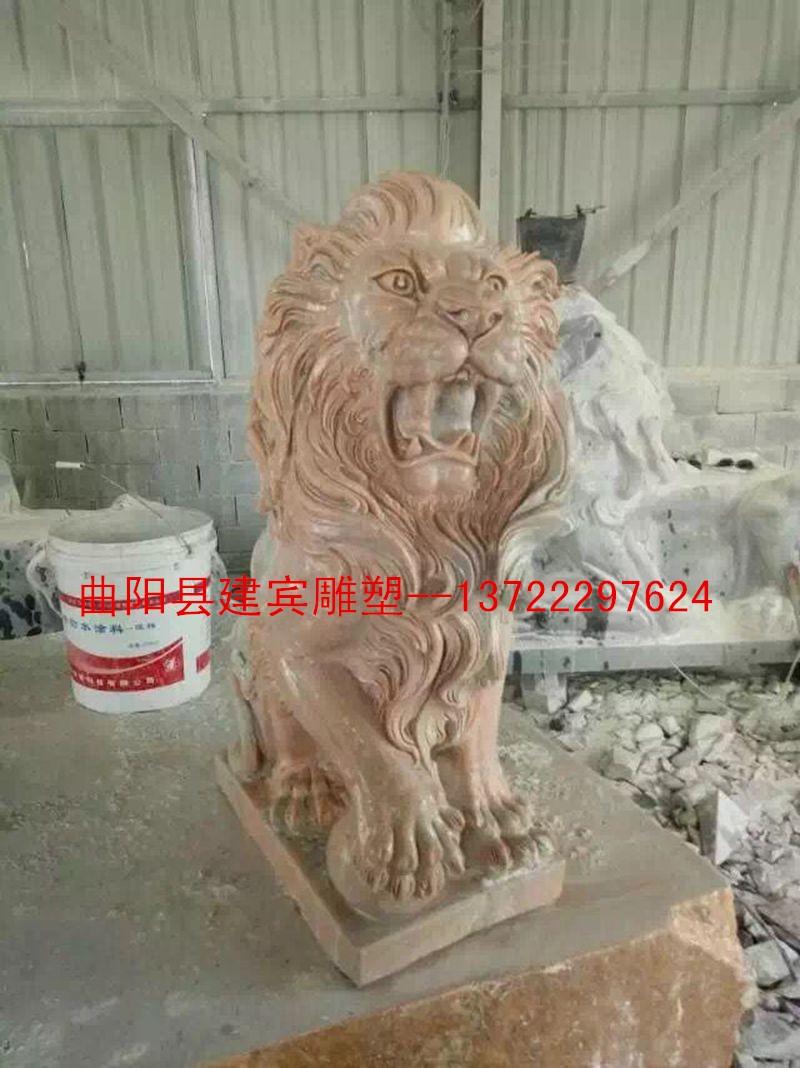 供应欧式石雕爬狮子 西式石狮石雕雕刻 工艺品摆件 花岗岩石雕狮子