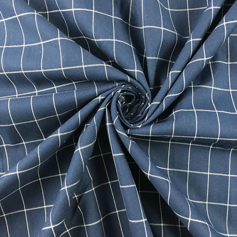 衬衫布料厂家批发男女色织格子布衬衫面料现货 全棉磨毛色织面料