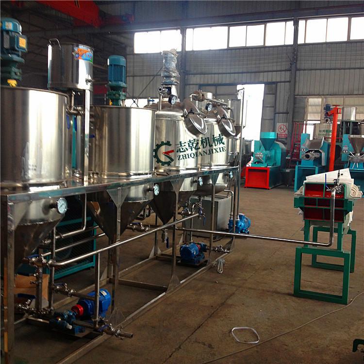 核桃加工机械 核桃榨油精炼设备厂家 核桃油脱胶脱酸精炼生产线