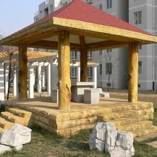 郑州水泥仿木仿木凉亭 水泥仿木护栏 建筑护栏