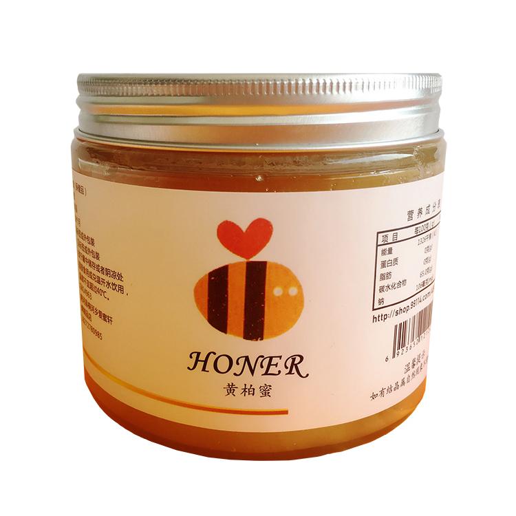 爱蜜轩 新品蜂蜜 天然黄菠萝蜜 优级黄柏蜜500g  纯正无添加
