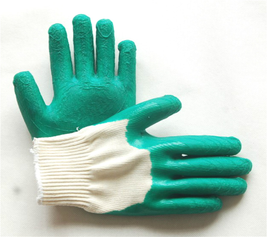 纱线半浸胶手套JS-3型亮点是比线单面胶手套更加结实耐用防护力度增强