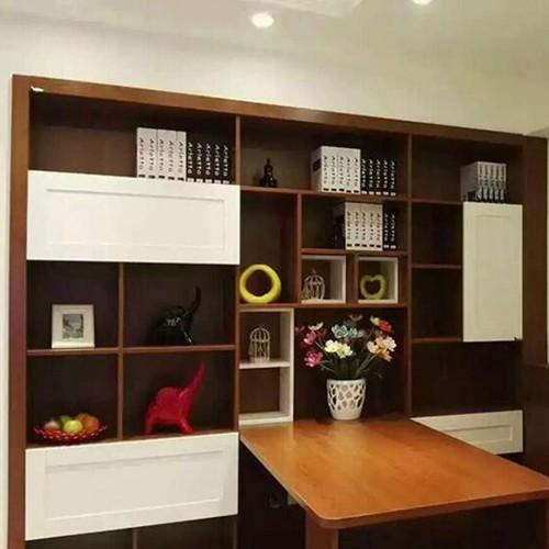 饰美家 定制家具 定制书柜带书桌图片