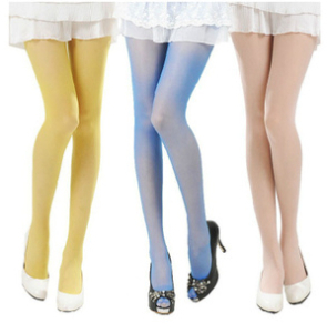 供应夏季女糖果色超薄显瘦腿丝袜