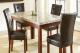 厂家直销欧美式纯天然大理石实木方形餐桌6人简约风格饭桌子
