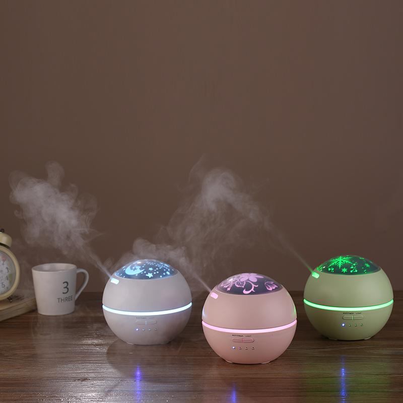 光影香薰机 创意七彩夜灯香薰加湿器 家用超声波雾化迷你香薰机