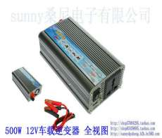 500W车载逆变器12V/24V/48V转220V车载电源转换器,车载笔记本电源, 带USB车载充电器