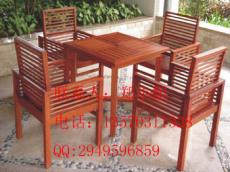 厂家直销花园柚木桌椅户外实木桌椅野餐台桌椅