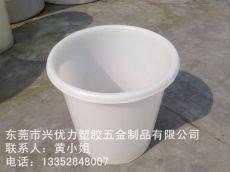 厂家直供:广口式食品塑料周转桶 防腐蚀塑料漂染圆桶 耐高低温圆形大白桶