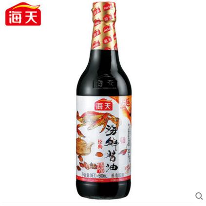 海天牌海鲜酱油500ml 点蘸凉拌特色酱油