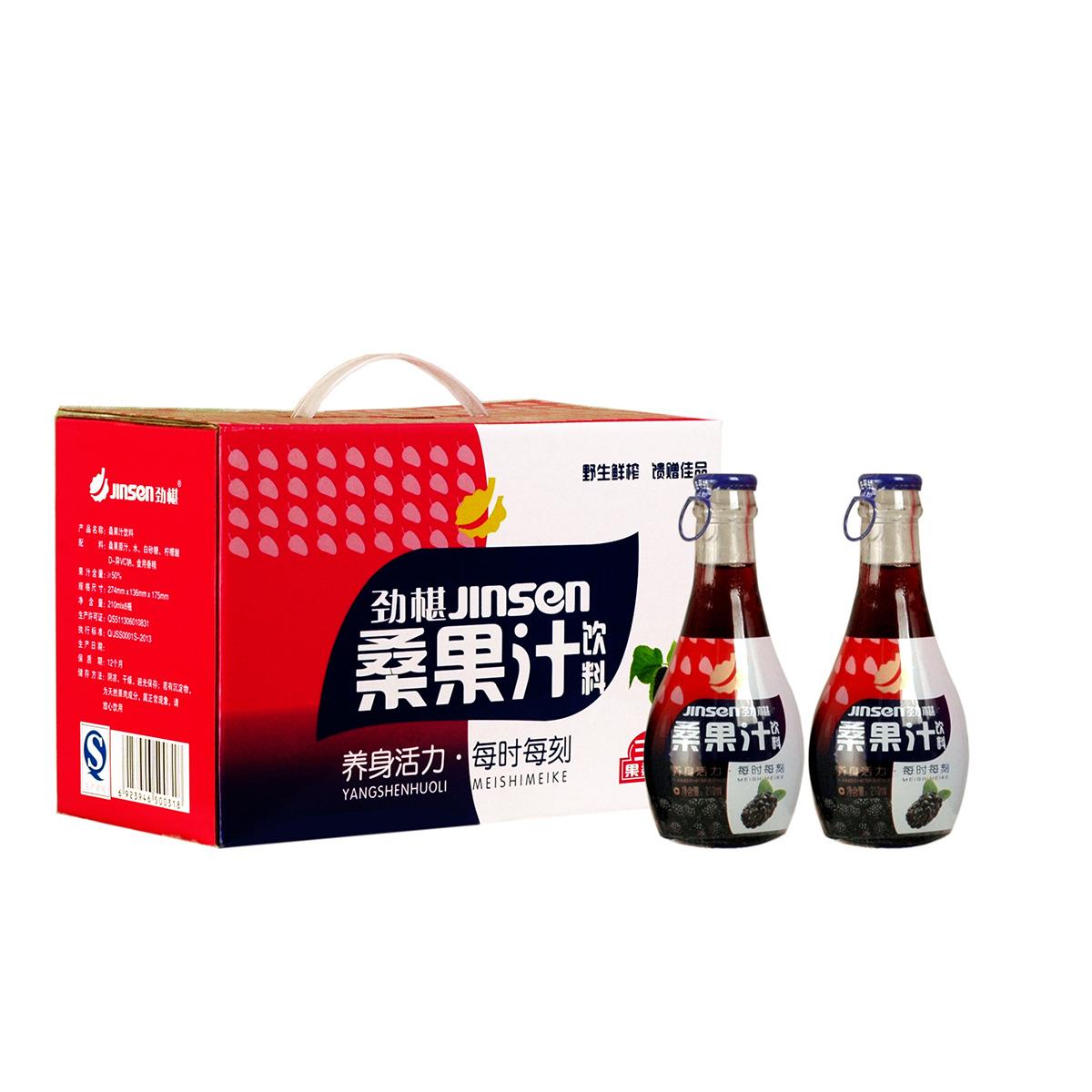 """""""劲葚""""  桑果汁饮料6元瓶"""