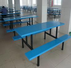 康胜自销学生食堂餐桌椅/广州-耐用六人食堂餐桌椅厂家