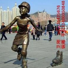 运动人物铜雕塑,街头铜雕塑,广场铜雕塑,大型城市雕塑
