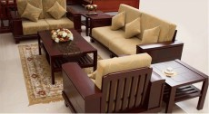 全柚木实木现代中式皮革沙发上海佳语厂家直销