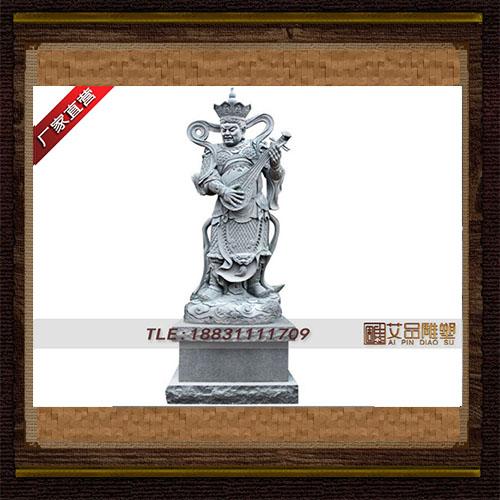 东方持国天王铜雕像  寺庙铜佛像 辟邪吉祥铜像 铜雕定做厂家