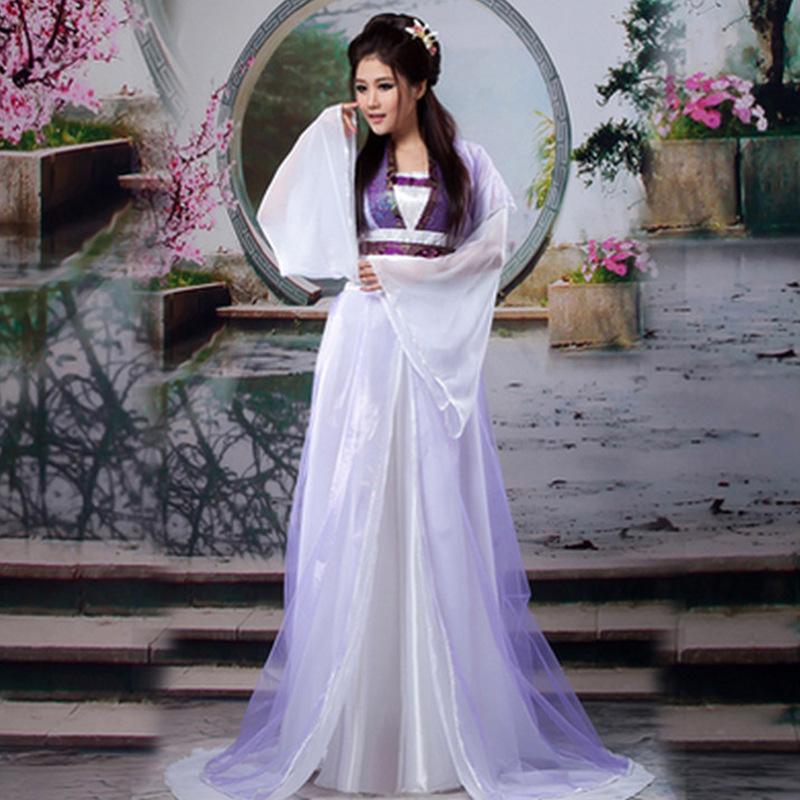 唐装汉服古装衣服女贵妃公主齐胸襦裙影楼拍照写真服 仙女服装