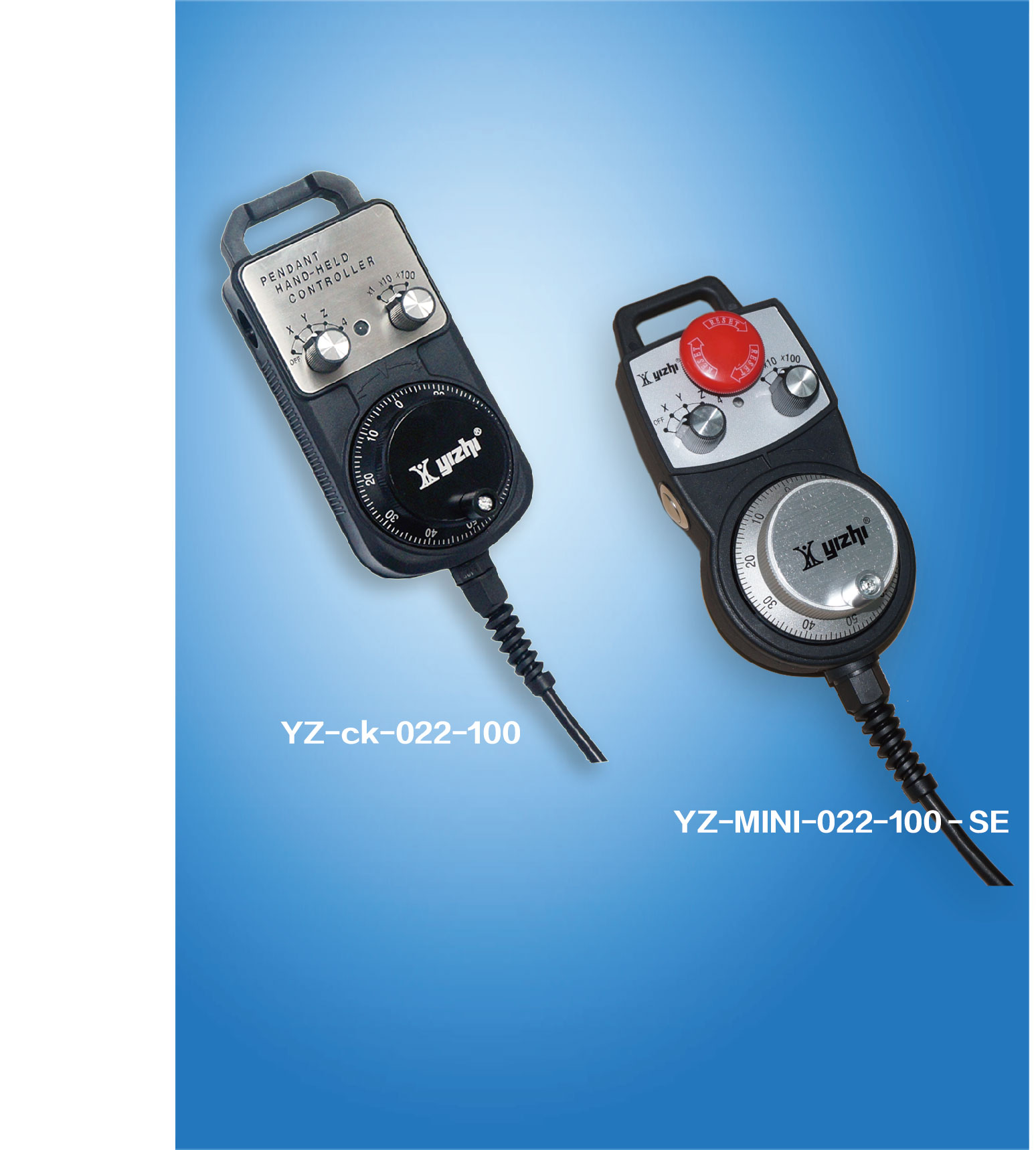 YIZHI智能纠错抗振型数字电子手轮,国家专利产品,适配任何CNC数控系统及PLC
