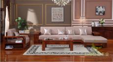佳语木业家具缅甸进口柚木全实木中式客厅沙发厂家直销