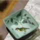 供应批发新中式手绘创意家居陶瓷四方碗创意水果碗干果瓷器糖果碗供应