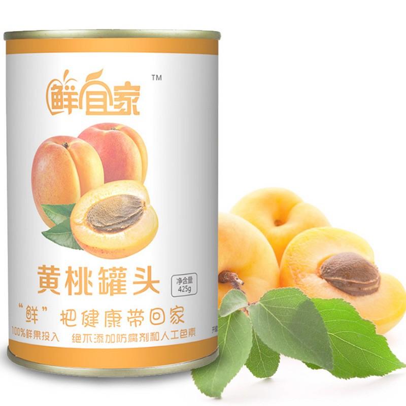 厂家直销 罐头食品 砀山黄桃罐头425g 砀山水果罐头批发 桃罐头