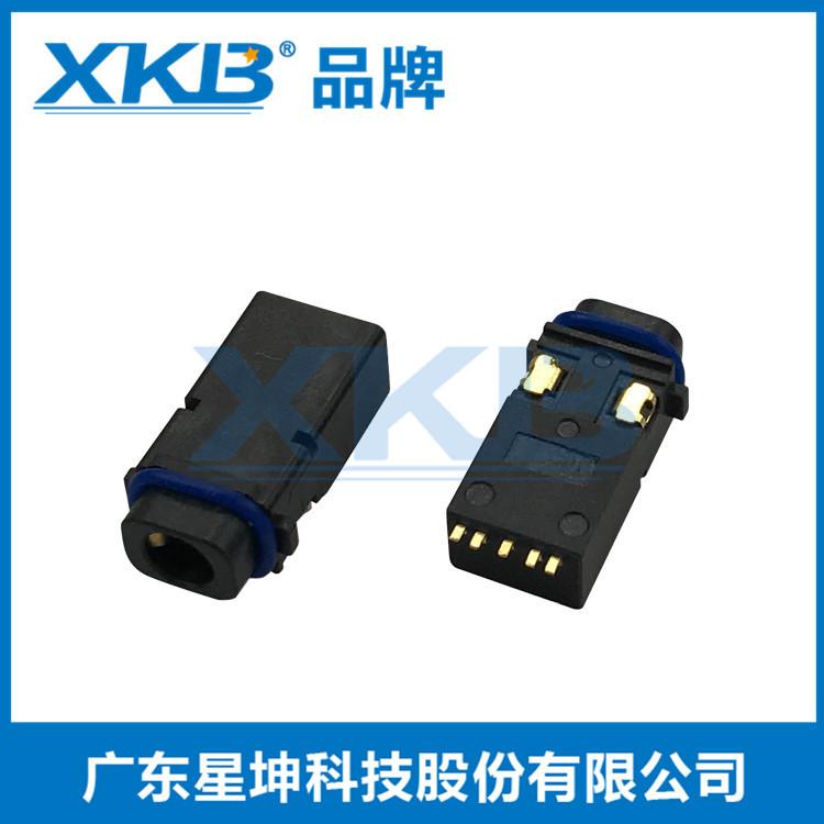 防水IP67耳机插座贴片带防水圈PJ-3255
