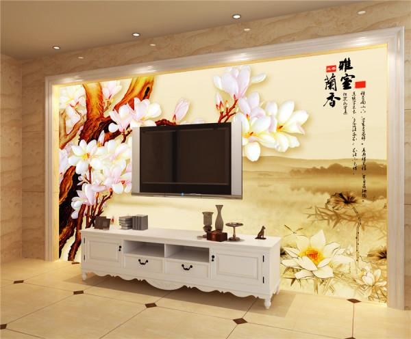 电视背景墙无缝墙布无框画高清装饰画沙发背景墙035