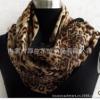 供应  KOUSEI 2013出口欧美百搭超大羊毛印花披肩时尚豹纹印花围巾批发