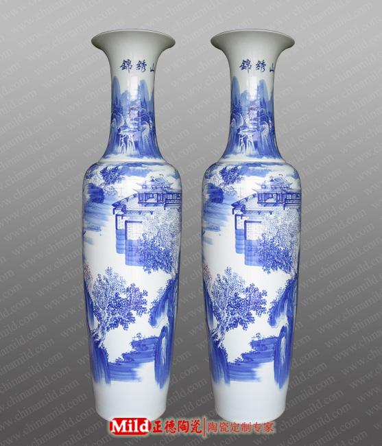 3米国色天香陶瓷大花瓶景德镇陶瓷大花瓶落地摆设陶瓷大花瓶