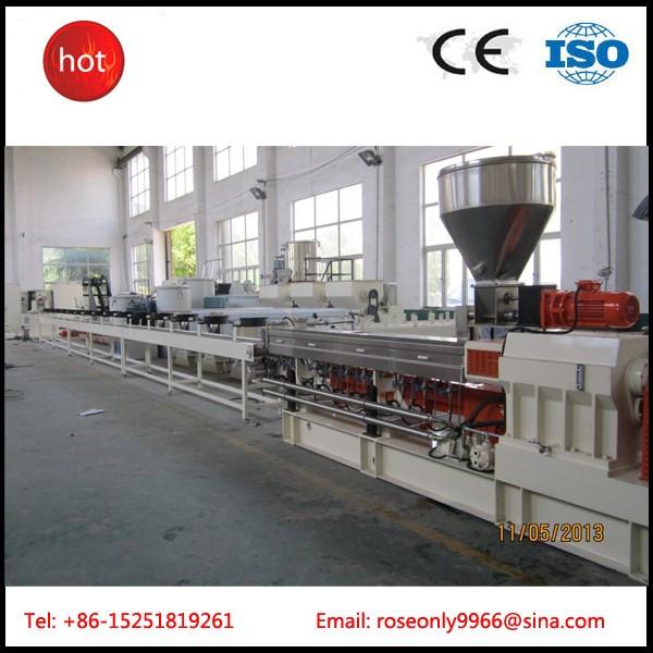 南京广塑GS-75双螺杆挤出机PP防潮母粒造粒机