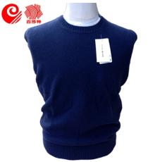 鄂尔多斯百莎特 2014新品圆领羊绒衫 男士纯山羊绒 爱针织衫毛衣